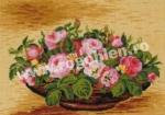 Goblen - Cos cu trandafiri