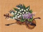 Goblen - Violin and Flowers
