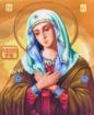 Goblen - Vierge avec voile verte