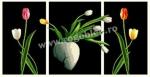 Goblen - Triptic cu lalele