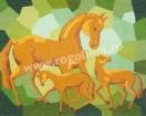Goblen - Cavalli sul vetro