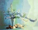 Goblen - Florale marine