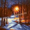 Goblen - Noapte in parc