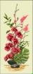 Goblen - Ikebana con orchidee