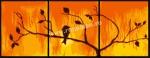 Goblen - Triptic cu lumina in apus