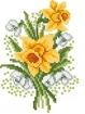 Goblen - Narcise cu ghiocei