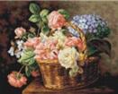 Goblen - Cos cu flori