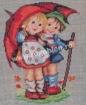 Goblen - Enfants sous parapluie