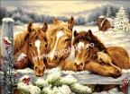 Goblen - Hiver de chevaux