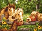 Goblen - Летом Лошади