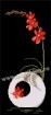 Goblen - Ikebana cu frezie rosie