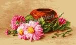 Goblen - Спальный хризантемы