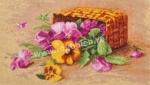 Goblen - Basket of Pansies