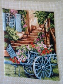 Goblen - Caruta cu flori