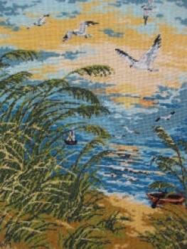 Goblen - Feerie cu pescarusi