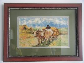 Goblen - Carul cu boi