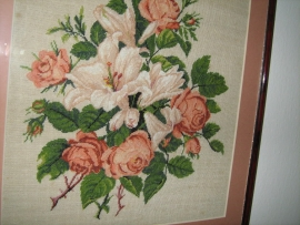Goblen - Crini si trandafiri