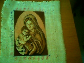 Goblen - Fecioara Maria cu pruncul