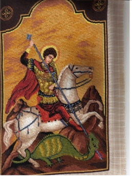 Goblen - Sfantul Gheorghe